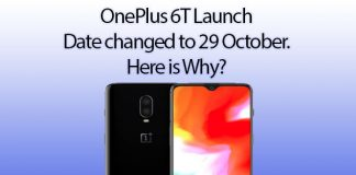 OnePlus 6T event rescheduled on October 29